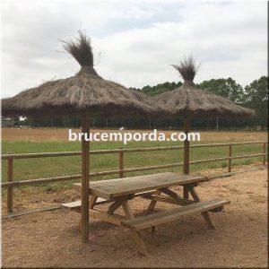 Parasoles brezo bruc natural